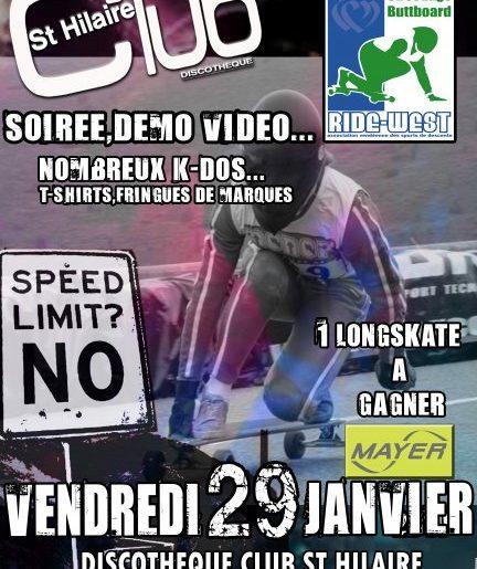 Trois soirées Vidéo Longskate le 29 Janvier : Paris, Lyon, St Gilles