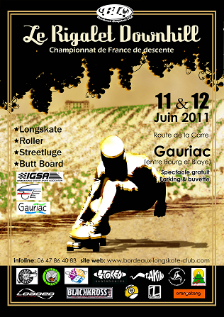 affiche rigalet downhill